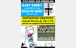 Initiation gratuite EDR et Baby Rugby !